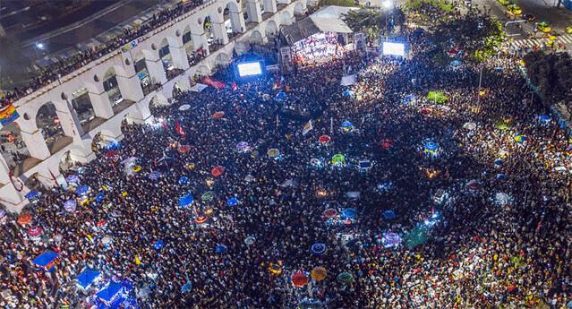 Estimativa de 70 mil pessoas na Lapa pela democracia - Créditos: Ricardo Stuckert