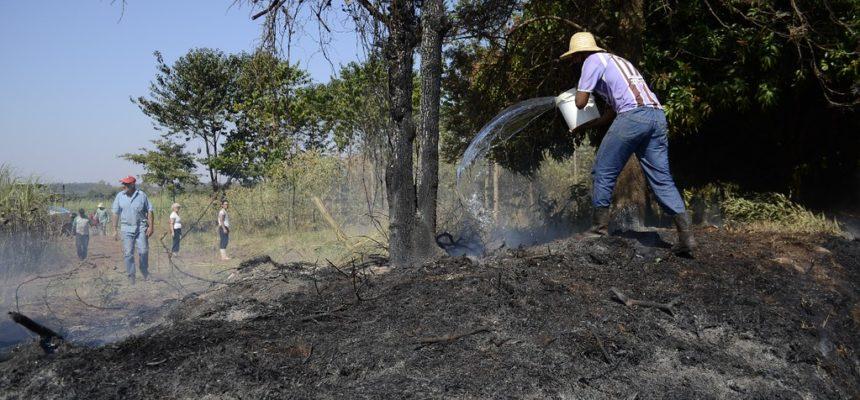 Famílias assentadas denunciam incêndio criminoso no Paraná