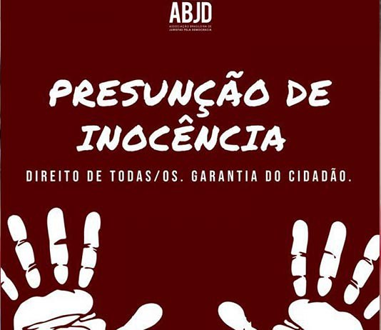 Presunção de Inocência e Independência Judicial são temas de Ato