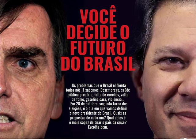 Brasil de Fato lança tabloide especial sobre segundo turno das eleições