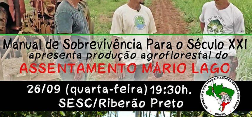 Em Ribeirão Preto, documentário apresenta experiência agroflorestal no assentamento Mário Lago