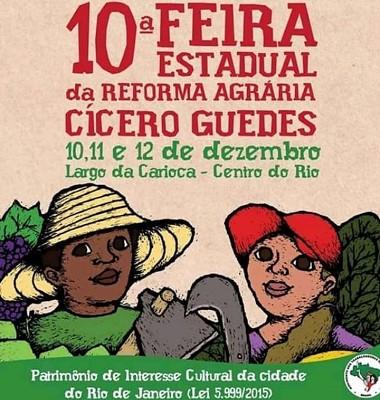 Rio de Janeiro realiza 10ª Feira Estadual da Reforma Agrária Cícero Guedes