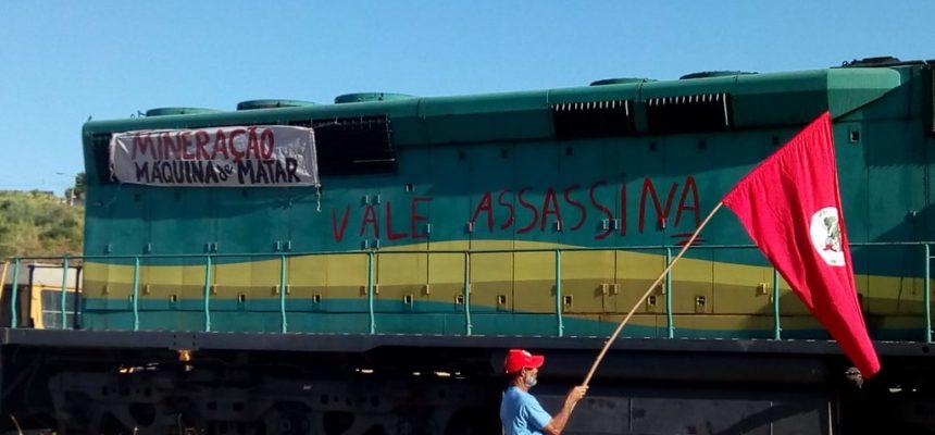 Frente Brasil Popular paralisa as atividades da Vale em Governador Valadares, MG