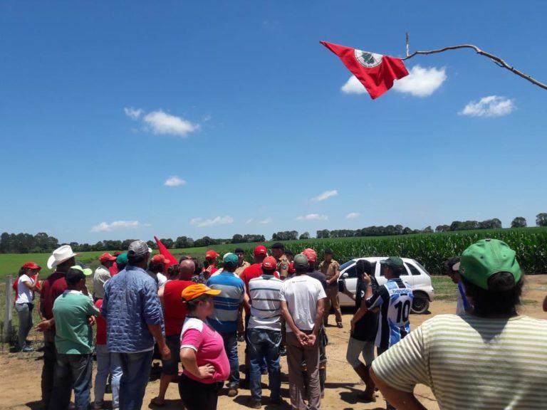 MST ocupa fazenda do IAP para cobrar o assentamento de 150 famílias Sem Terra