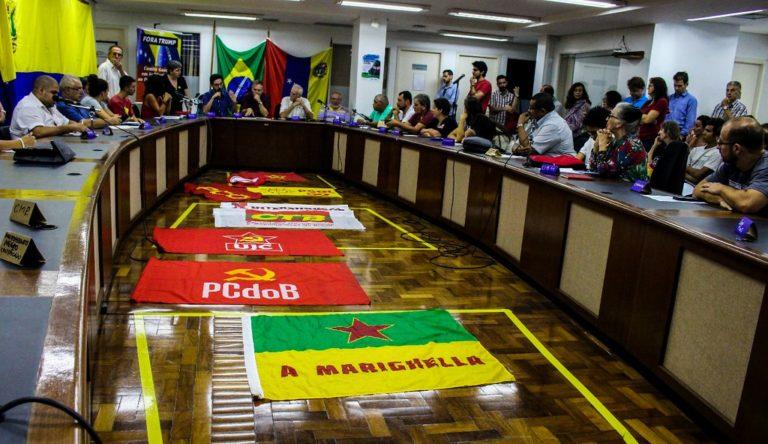 Ato em apoio ao povo venezuelano mobiliza capital gaúcha