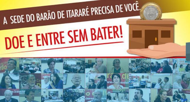Barão de Itararé precisa de apoio financeiro para manter sede