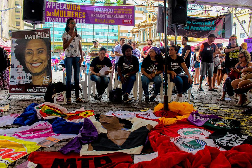 Suelen Gonçalves em sua manifestação no Painel - Foto Maiara Rauber - MST (1).jpg