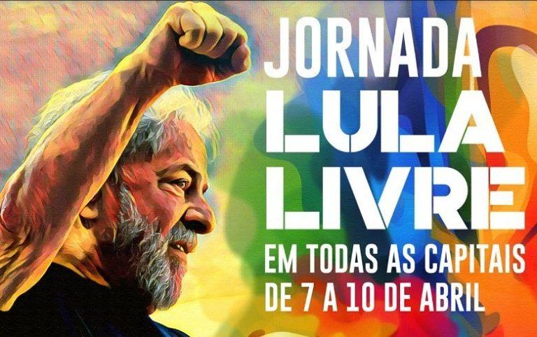 Jornada Internacional Lula Livre mobiliza ações no Brasil e no mundo