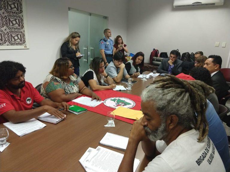 MST participa de audiência com governador Hélder Barbalho em Belém (PA)