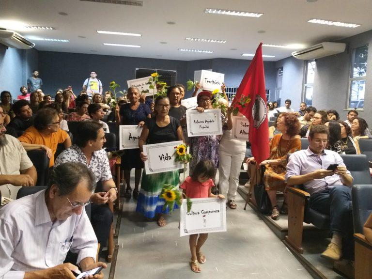 VI Jornada Universitária inicia com presença das matriarcas da luta pela terra