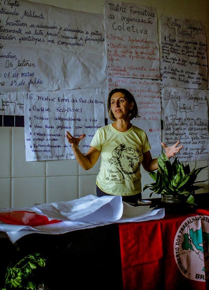 Dionara Ribeiro, da coordenação pedagógica da Escola Popular de Agroecologia e Agrofloresta Egídio Brunetto (EPAAEB).Foto_ColetivodeComunicaçãodoMSTnaBahia (1).jpeg
