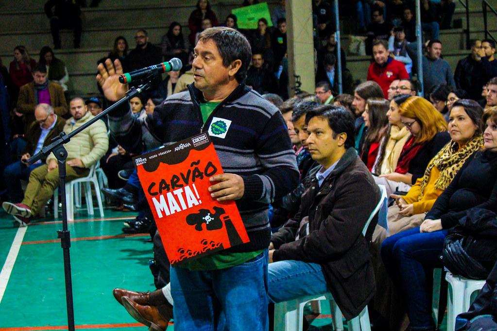 Sem Terra Valci de Oliveira se manifesta contra o projeto da Copelmi - Foto - Maiara Rauber - MST.jpg
