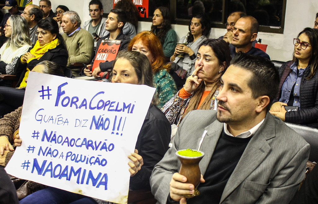 Manifestações apontam que a Mina Guaíba é um projeto destruidor. Foto - Catiana de Medeiros..jpg