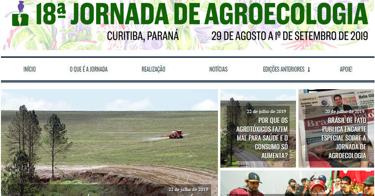Está no ar o novo site da Jornada de Agroecologia