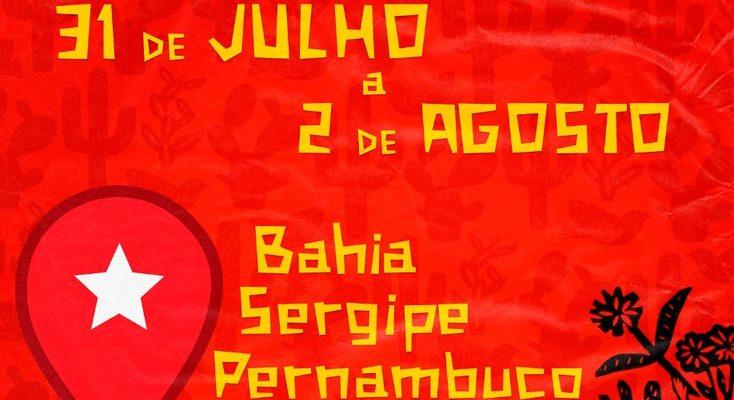 Caravana realiza atos em defesa de Lula na Bahia, Sergipe e Pernambuco