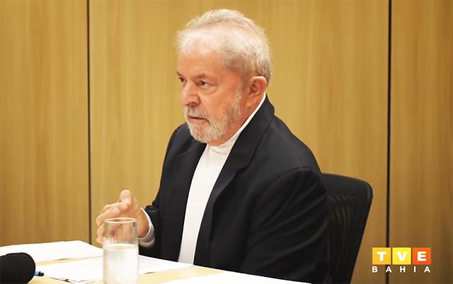 questiona Lula em entrevista à TVE Bahia