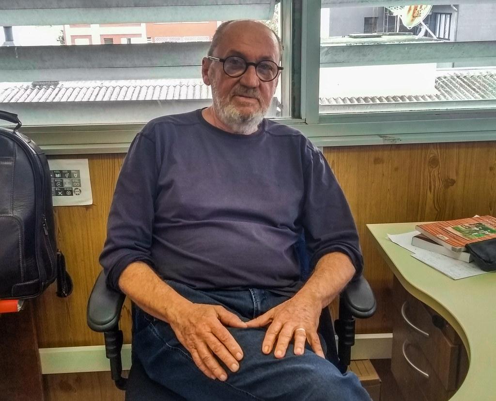 7 - Luiz Flek, agrônomo. Foi coordenador do Lavourão na ocupação Macali. Foto - Maiara Rauber.jpg