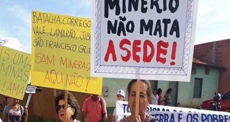 Nota de denúncia contra a Mineração da SAM no norte de Minas Gerais