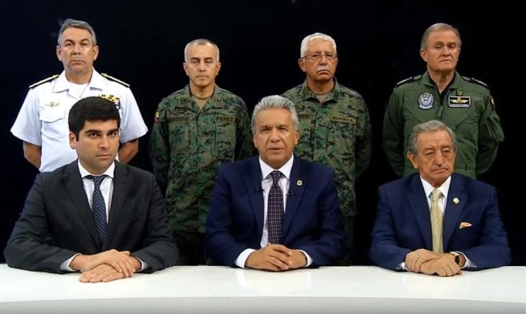 presidente do Equador deixa Quito e transfere sede do governo para Guayaquil