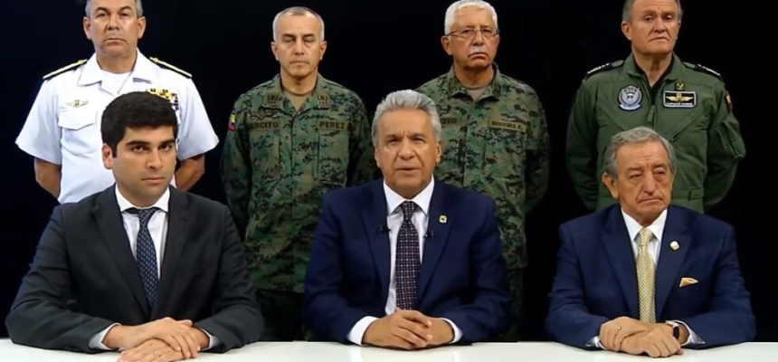 Acuado, presidente do Equador deixa Quito e transfere sede do governo para Guayaquil