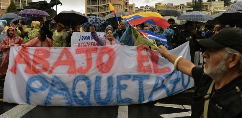 No Equador, milhares saem às ruas contra a política neoliberal do Governo