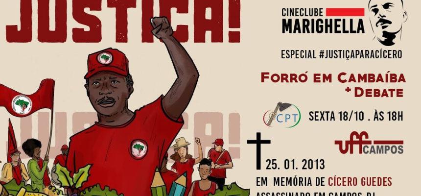 "Cineclube ""Forró em Cambaíba"" marca atos por justiça à Cícero Guedes"
