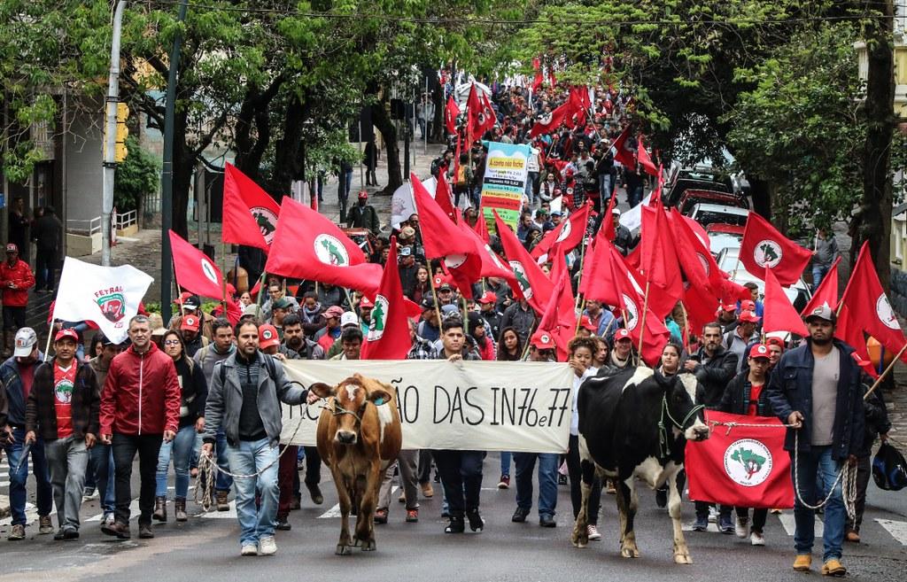Produtores em caminhada no centro de Porto Alegre. Foto - Leandro Molina.jpg