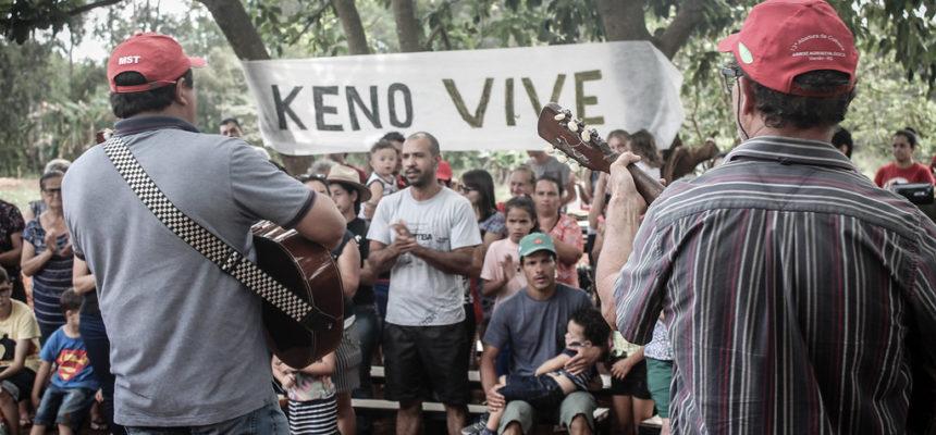 Familias e amigos do MST realizam ato ecumênico em memória ao companheiro Keno no Paraná