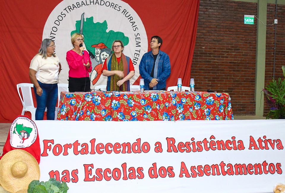 Prefeita Margarete, de Nova Santa Rita, participou da abertura do encontro. Foto - Maiara Rauber..jpg