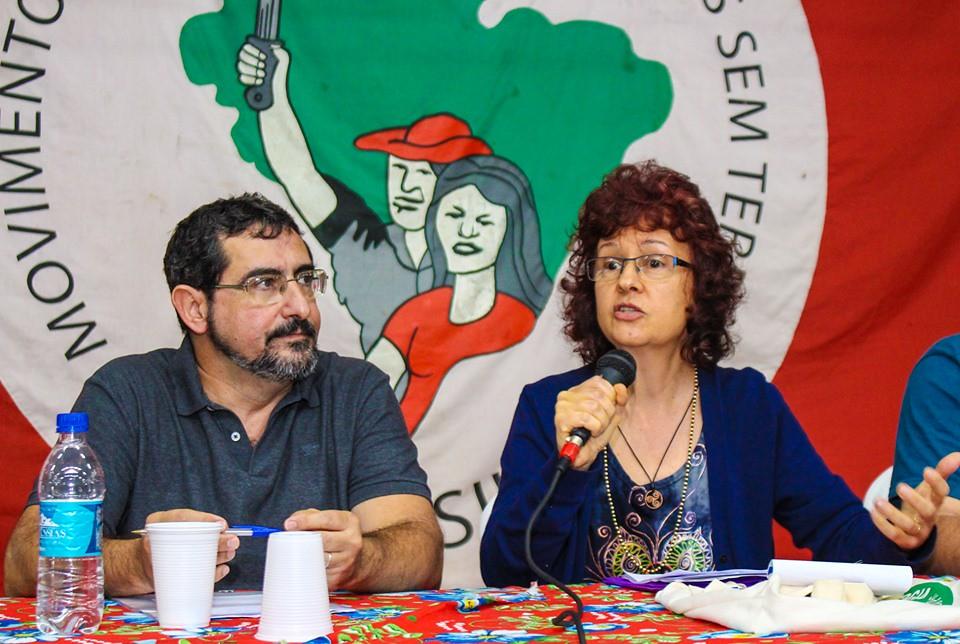 Adalberto Martins e Roseli Scarlet falaram sobre Reforma Agrária Popular, agroecologia e educação. Foto - Catiana de Medeiros.jpg