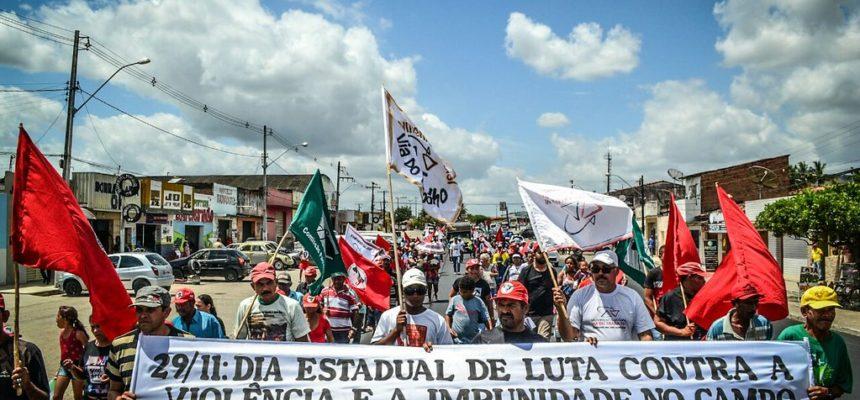 Sem Terra realizam ato em Alagoas contra a violência e a impunidade no campo e na cidade