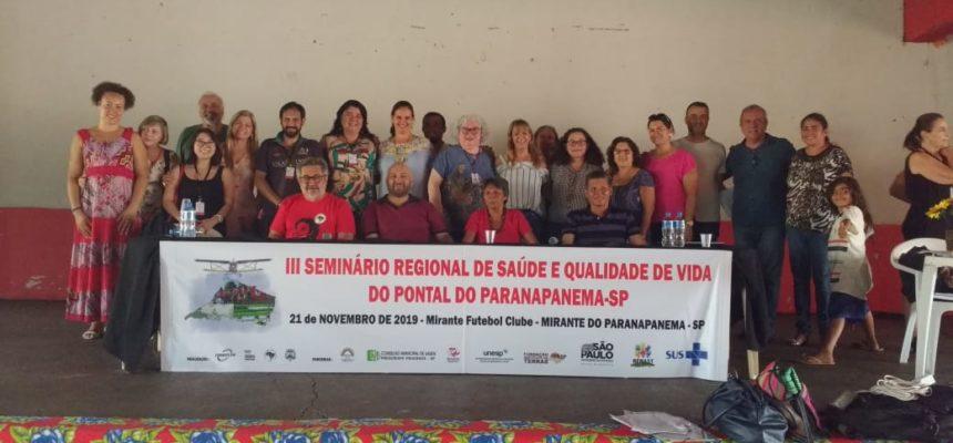 Seminário Regional discute saúde e qualidade de vida no Pontal de Paranapanema (SP)