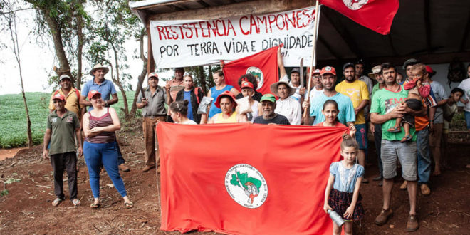 "Vigília ""Resistência Camponesa"" recebe Voto de Louvor de vereador de Cascavel (PR)"