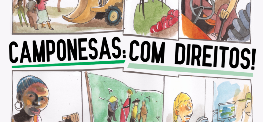 """Via Campesina lança história em quadrinho: """"Campesinas com direitos"""""""