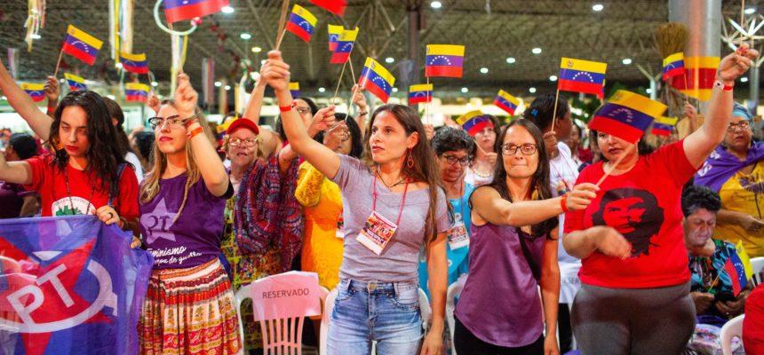 Representantes de vários países participam do Encontro Nacional das Mulheres Sem Terra
