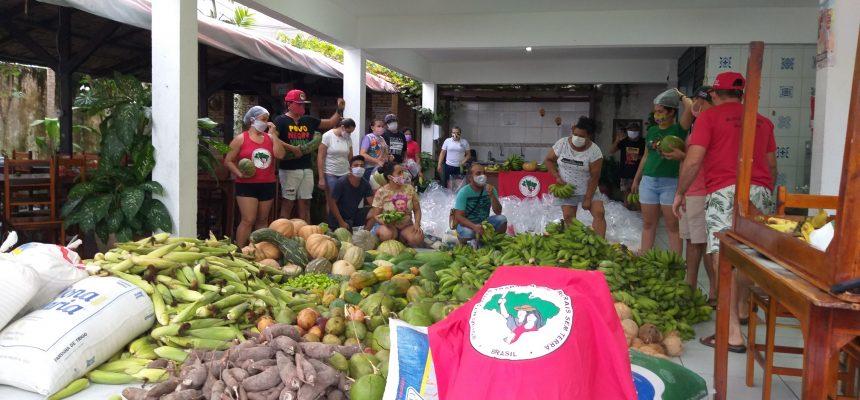 No Ceará, MST distribui 15 toneladas de alimentos saudáveis e 5 mil litros de leite