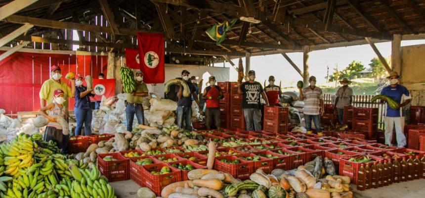 Acampamento Maila Sabrina doa 14 toneladas de alimentos a ocupações urbanas de Curitiba