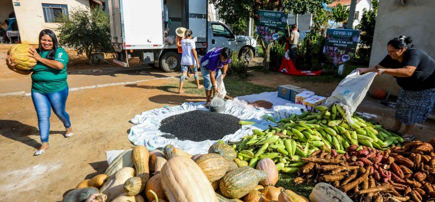Comunidades urbanas e indígenas de Curitiba e Piraquara recebem doação de 5 toneladas de alimentos