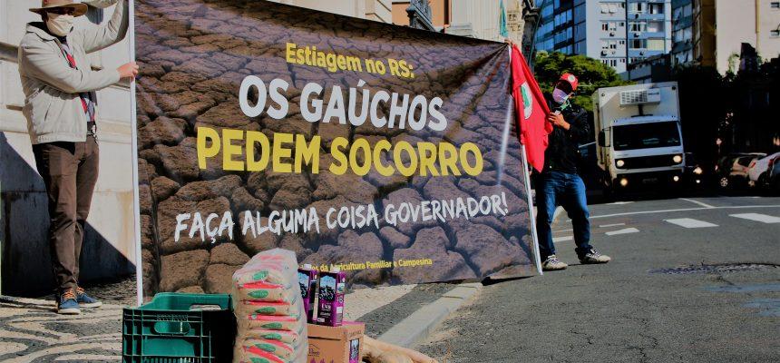 Agricultores gaúchos sofrem com estiagem e governo não toma providências