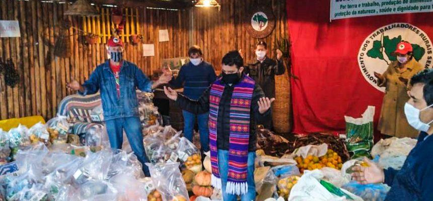 Solidariedade e luta: MST doa 6 toneladas de alimentos em Santa Catarina