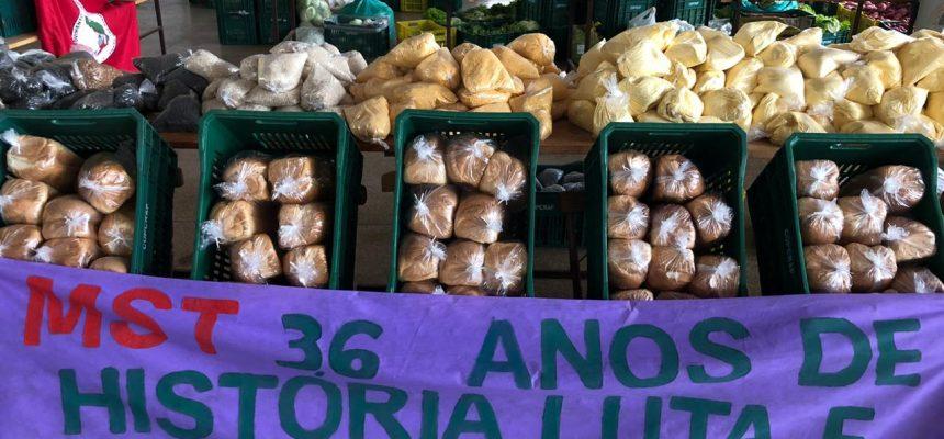 MST-PR doa 10 toneladas de alimentos saudáveis em Cascavel