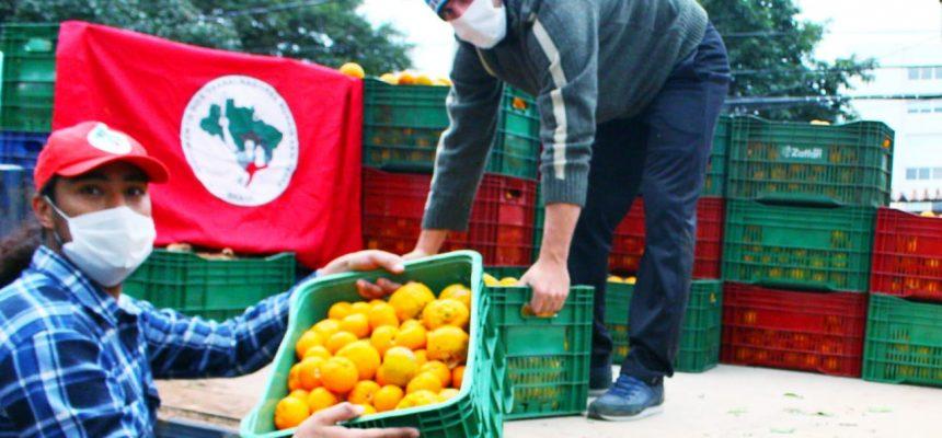 Assentados de Jóia (RS) arrecadaram 8 toneladas de alimentos para doação