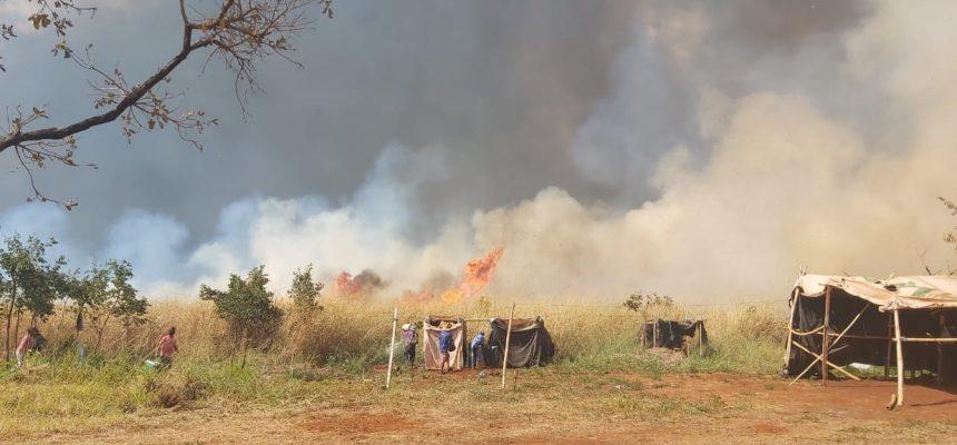 Acampamento Campo e Cidade Paulo Botelho sofre incêndio