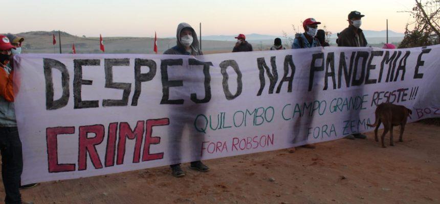 MST promove ato em solidariedade ao acampamento Quilombo Campo Grande