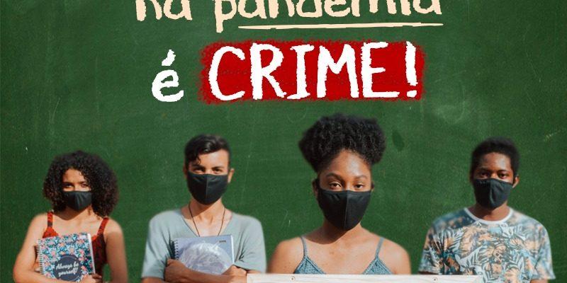 """MST lança campanha """"Volta às aulas na pandemia é Crime!"""""""