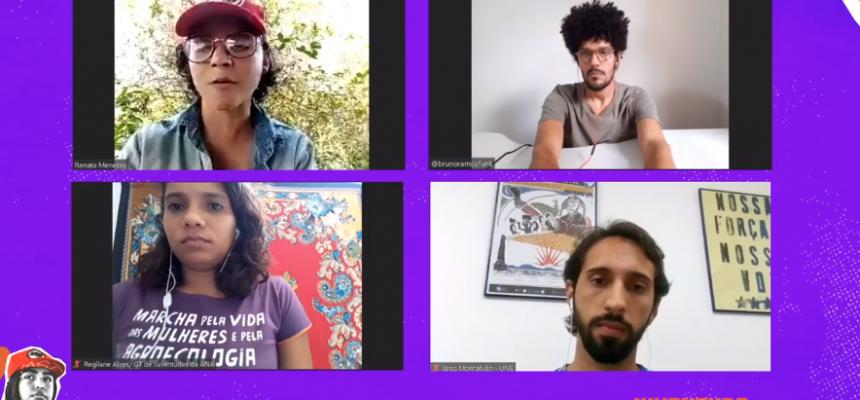 No Dia do Estudante, Juventude Sem Terra debate educação em tempos de pandemia