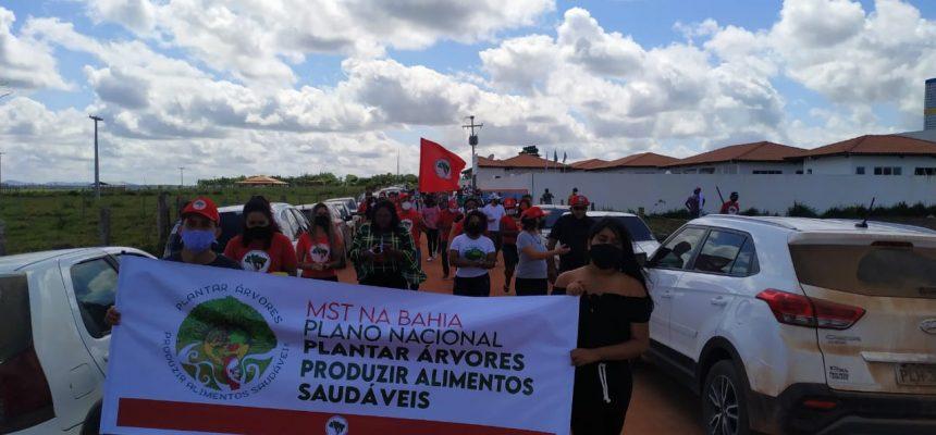 Ato de resistência do MST na Bahia marca a retirada da Força Nacional do Estado