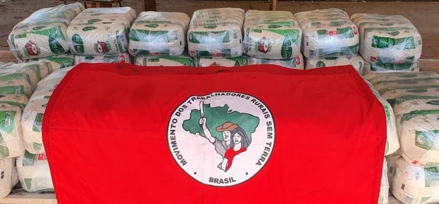 1 tonelada de arroz orgânico do MST chega ao Triângulo Mineiro em ação solidária