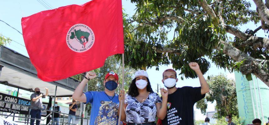 Na Paraíba, MST e parceiros fazem ato contra volta às aulas presenciais na pandemia