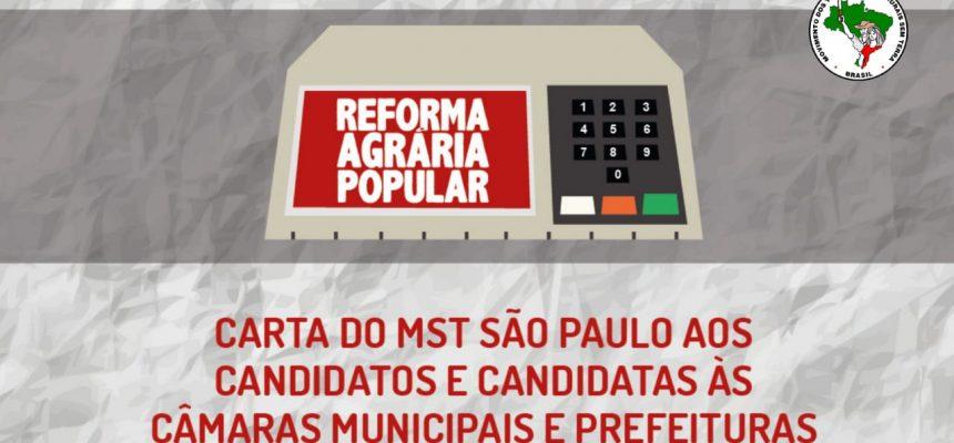 MST São Paulo lança Carta aos candidatos e candidatas nas eleições municipais